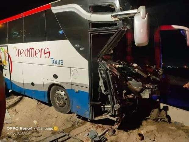 بسبب ألنعاس أصابة 21 شخص بحادث سير...