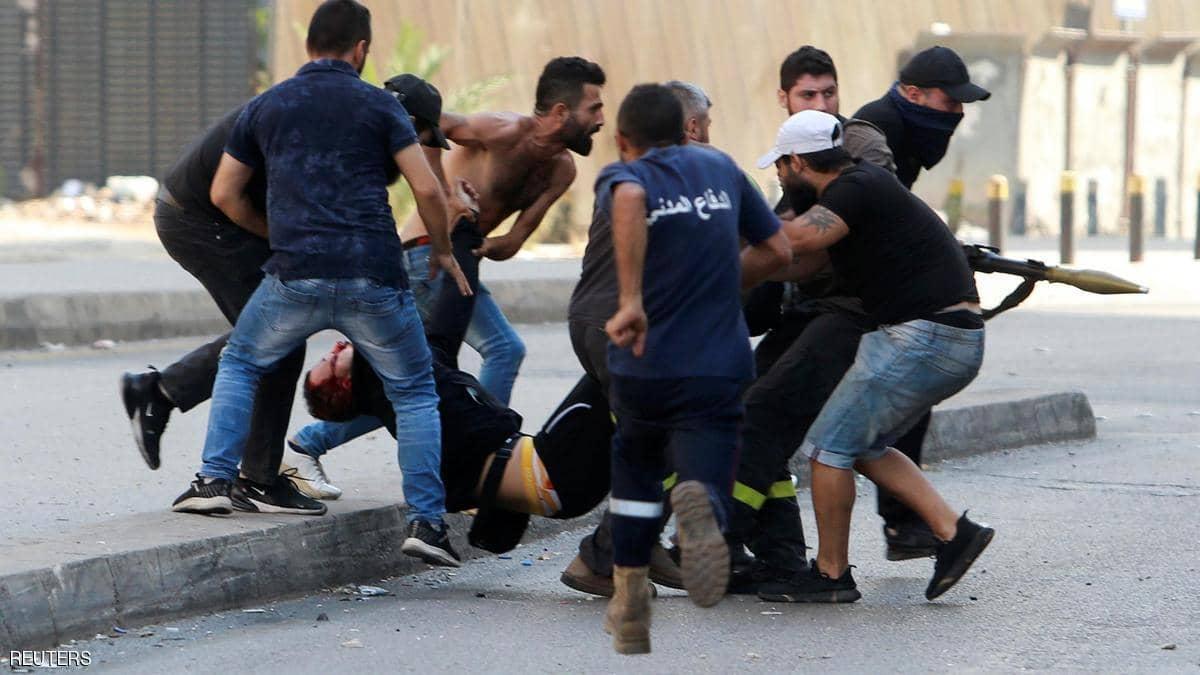 عاجل : قتلى و جرحى في بيروت بسبب أشتباك حزب الله مع الحكومة
